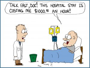 Cartoon about expensive health care